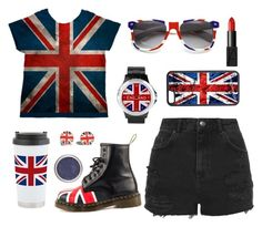 """Union Jack"" by texaspinkfox ❤ liked on Polyvore"