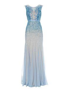 Adrianna Papell Sleeping beauty dress, Sky Blue