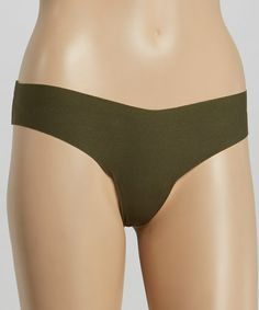 Take a look at this Major Olive Thong by commando on #zulily today! $10.99