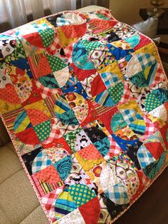 Tin Whistle: Raggy Circle Quilt---Uses The Raggy Circle Pattern From Cluck Cluck Sew