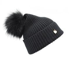38.00$  Buy here - http://alixa2.worldwells.pw/go.php?t=32767548168 - 2016 Super luxury Real Raccoon fur pompoms wool knit Beanie hat Fashion Lady winter fur hat Women Pompon Beanies Female wool hat