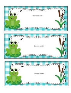 Frog Theme Classroom Decor - EDITABLE! Frog Theme Classroom, Classroom Labels, Classroom Decor Themes, School Classroom, Classroom Organization, Infant Room Daycare, Frog Activities, Frog Drawing, Cubby Tags