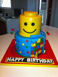 *lego cake designed and inspired from the many great lego cakes out there!