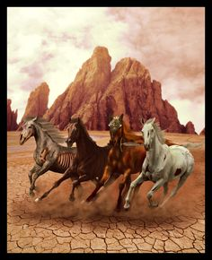 The four *horses* of the apocalypse