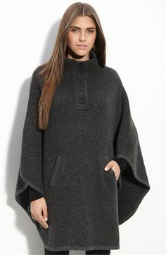 I love capes/ponchos for fall and winter.  This sweater with leggings and boots - fantastic!!