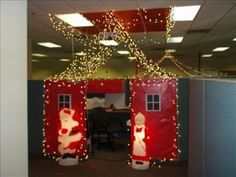 1000 images about cubicle christmas office decorating