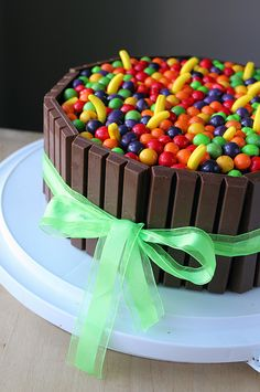 Idea for Jared's cake with peanut butter goodies instead of runts
