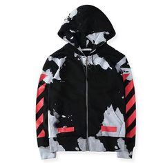 23e6923c2133 2017 Off White Kanye West Virgil Abloh Zip up Hoodie   DealExtreme Off  White Hoodie