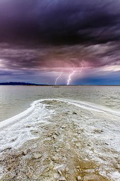 Lightning - Great Salt Lake, Utah