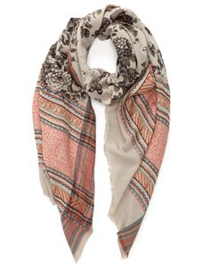 Pop Border Floral Print Scarf | Multi | Accessorize