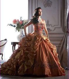 golden masquerade ball gown