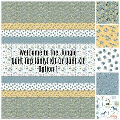 Jungle Baby Quilt Kit