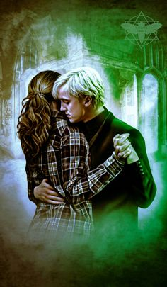 HERMIONE GRANGER AND DRACO MALFOY HARRY POTTER