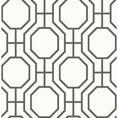 Sample Circuit Black and White Modern Ironwork Wallpaper from the... ($10) ❤ liked on Polyvore featuring home, home decor, wallpaper, wallpaper samples, black white wallpaper, modern home decor, black white home decor, modern wallpaper and mod home decor