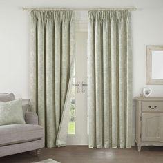 Frances Sage Lined Pencil Pleat Curtains | Dunelm
