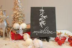 """Mistletoe"" custom canvas // Diamond Designs"