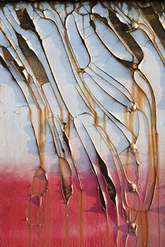 peeling paint, I think it looks like a butterfly wing. Arte Yin Yang, Art Grunge, Rust Paint, Peeling Paint, Foto Art, Texture Art, Paint Texture, Art Abstrait, Color Shapes