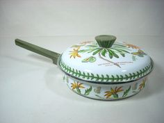 Portmeirion Botanic Garden Enamel Fry Pan African Daisy $125.00   eBay
