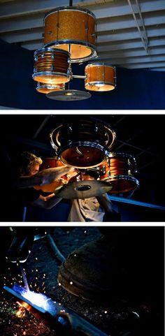 Drum Kit Chandelier Designer: ludwigmetals