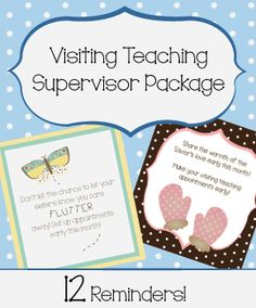 Visiting Teaching Supervisor Reminder Package