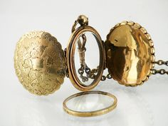 Victorian Antique Locket  Large Oval Gold Locket by ClosetGothic, $370.00