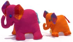 Small & Large Cuddly Elephants by Barefoot Cross Selling, Barefoot, Dinosaur Stuffed Animal, This Or That Questions, Toys, Elephants, Mini, Handmade, Amp