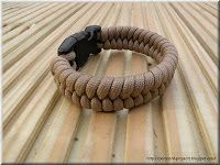 Paracord projects: Woven paracord bracelet, (5mm cord) Dog collar