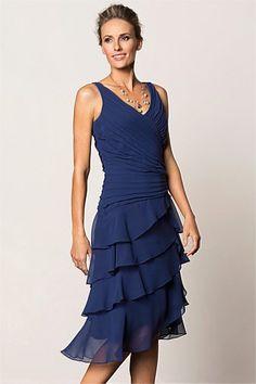 Grace Hill - Grace Hill Layered Chiffon Dress