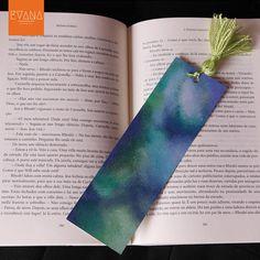 Blue Sea  Handpainted Bookmark