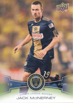 2012 Upper Deck MLS Soccer #157 Jack McInerney Philadelphia Union Trading Card by Upper Deck MLS. $1.99. 2012 Upper Deck Co. trading card in near mint/mint condition, authenticated by UpperDeck