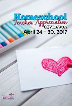 2017 Homeschool Teacher Appreciation Giveaway Week via @hiphmschoolmoms