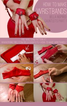 Bella inspired Gauntlets Part 1: How to Make Wristbands