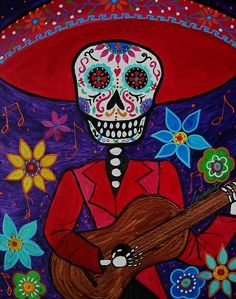Tuesday 39 s favorite finds 8 day of the dead art turkus for Dia de los muertos mural