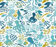 © Marina Grzanka - You are permitted to sell items you make with this fabric, but request you credit Marina Grzanka or Tata Marino as the designer. Please feel free to send me pictures of finished projects on Spoonflower or instagram (@bytatamarino). Thank you!
