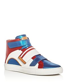BALLY MEN'S HERICK LEATHER HIGH TOP SNEAKERS. #bally #shoes #