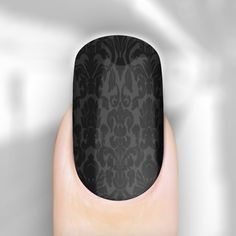 black baroque nail wraps