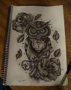 The owl, wise, witty, intelligent, quiet & strong.... I'd say this is perfect for me (: #owl #owltattoo