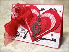 IC426 Key to My Heart by StampingQueenJAR - Cards and Paper Crafts at Splitcoaststampers