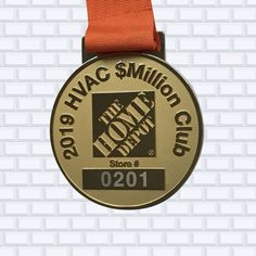 @ultimatepromotions posted to Instagram: When looking to stand out from the rest, #sandblasting your background is the way to make you text pop.  @homedepotcanada designed a beautiful full-size medal to honour its top stores.  #custommedals  #customawards #serviceaward #topstore #homedepot #homedepotcanada Custom Awards, Service Awards, Pin Logo, No Way, Home Depot, Rest, Enamel, Company Logo, Make It Yourself