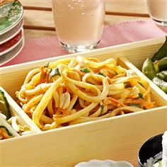 Cold Sesame Noodles Recipe -Even my kids can't resist this unique salad with a peanut butter dressing. To make it a main dish, stir in some cubed cooked chicken.—Elizabeth Perez, Flower Mound, Texas