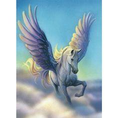Cartoon crystal diy 5d diamant schilderen borduren paard vleugel eenhoorn dieren…