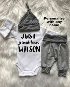 be3e29f58d8 PERSONALIZED NEWBORN BOY Coming Home Outfit  baby hat baby shower  gift photo outfit  baby boy coming home outfit  baby boy gift