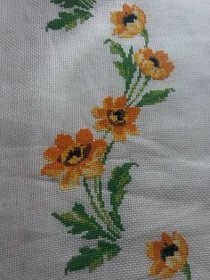 This Pin was discovered by Sev Just Cross Stitch, Cross Stitch Borders, Cross Stitch Flowers, Cross Stitching, Hand Embroidery Designs, Embroidery Applique, Cross Stitch Embroidery, Embroidery Patterns, Funny Cross Stitch Patterns