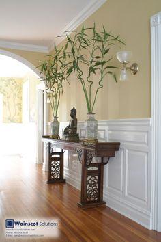 Give beautiful detail to your hallway's walls with Wainscoting. Visit our Website at: http://www.wainscotsolutions.com/