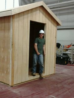 Shed built.