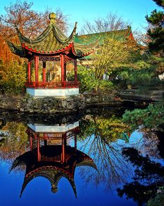The Dr. Sun Yat-Sen Classical Chinese Garden is located in Chinatown Vancouver, BC Canada.