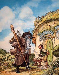 Gandalf and Bilbo by Iain McCaig