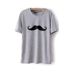 USD7.99 Fashion O Neck Short Sleeves Grey Velvet T-shirt