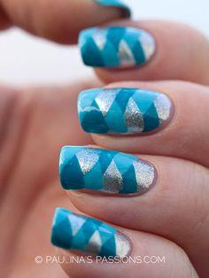 blue fishtail. nailart