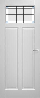2adore binnendeur Geranium met glas-in-lood Mint 12 jaar garantie